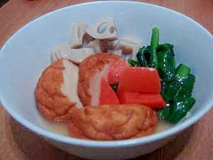 さつま揚げとレンコンの煮びたし風★小松菜を添えて