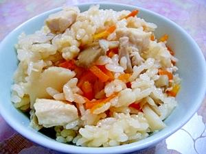 舞茸と鶏肉★炊き込みご飯