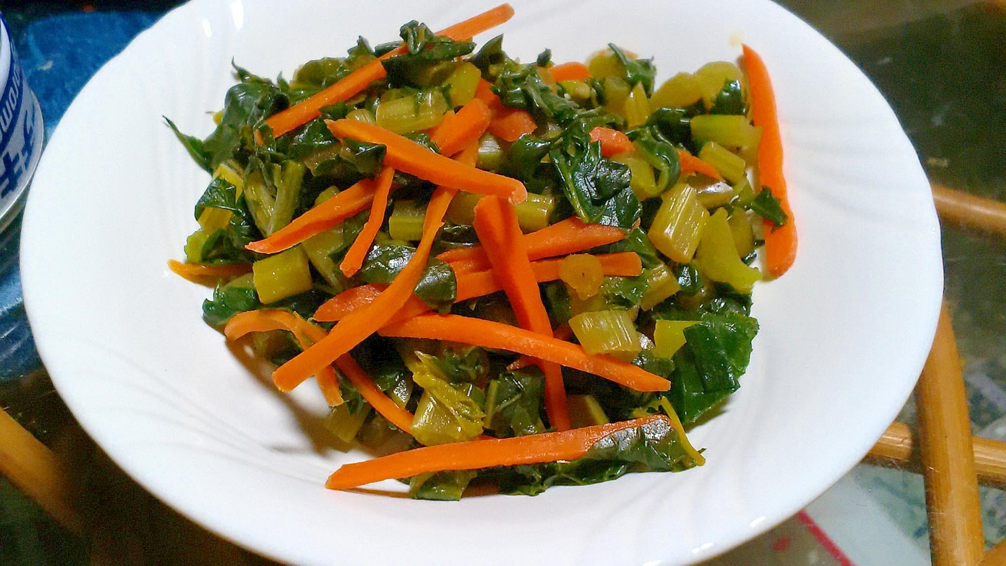 簡単♪おいしい!万能常備菜♪大根の葉で甘辛煮