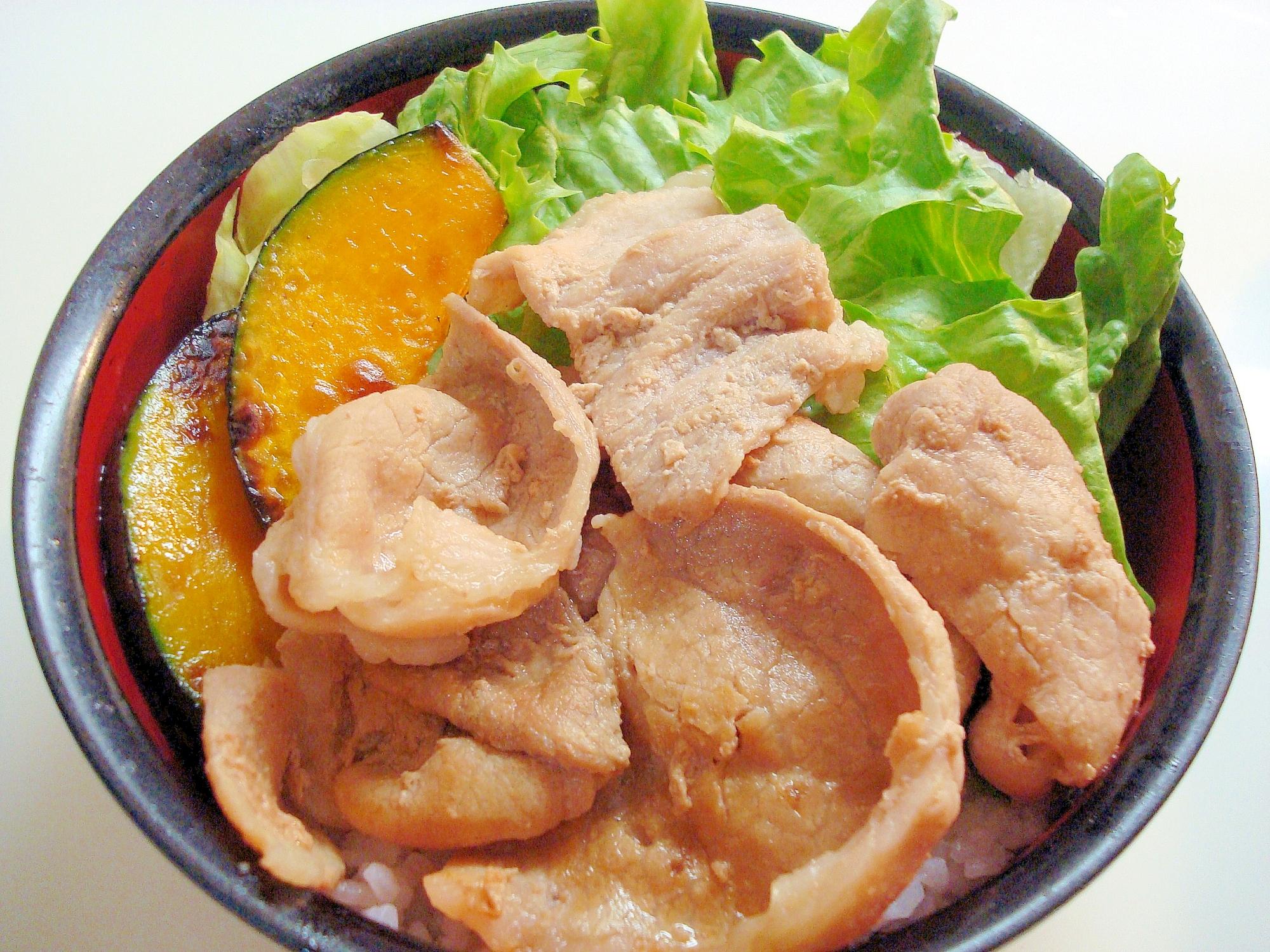豚肉の★照り焼き丼~♪