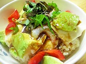 アボカド豆腐丼