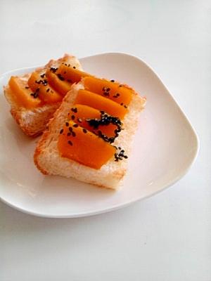 かぼちゃの煮物でパンプキントースト