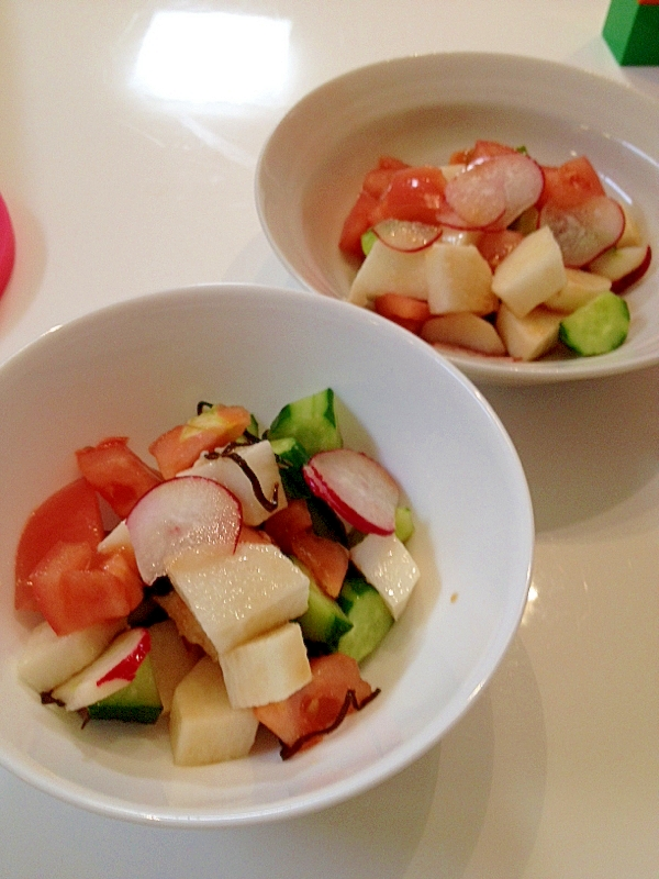 長芋とイロイロ野菜のサイコロサラダ