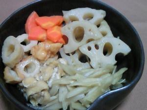 ごぼう・レンコンなどの薄味だし煮