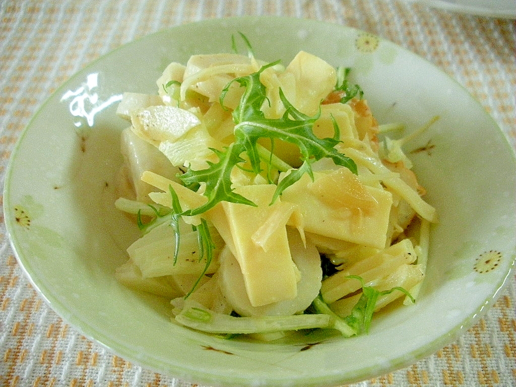 ☆ちくわとチーズの水菜サラダ☆