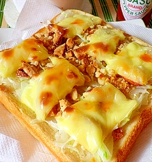 4.ガンガンナッツチーズトースト