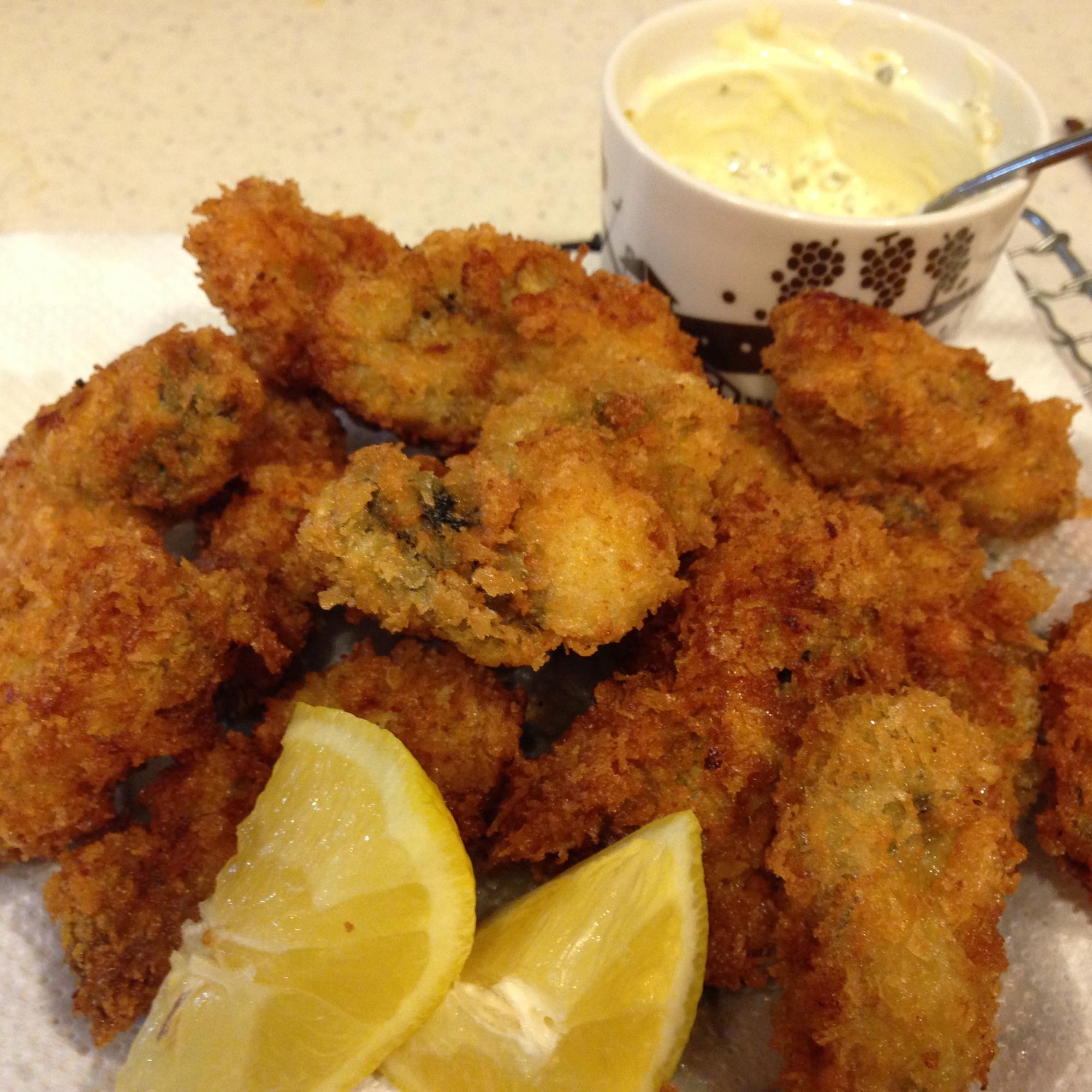 簡単タルタルソースで牡蠣フライ