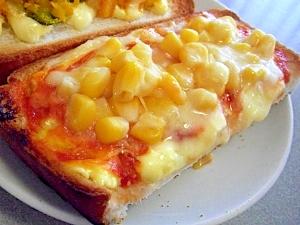 簡単朝食♪オーロラソースでコーンチーズトースト♪
