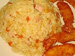 炊飯器で☆簡単♪玄米カレーピラフ