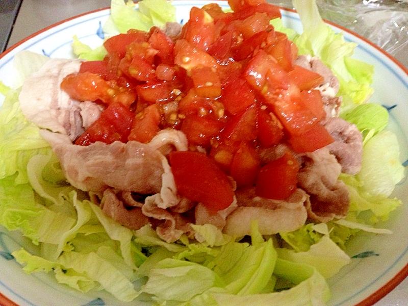 7. トマトソースがけ冷やし豚しゃぶ