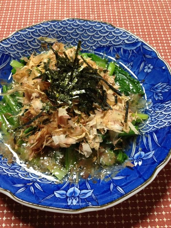 白だしで!しっかり味の小松菜のお浸し