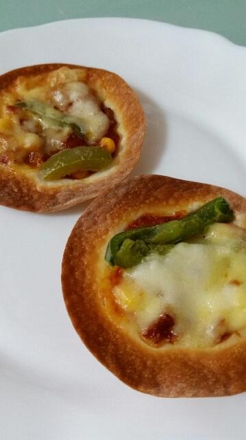 餃子の皮de簡単ピザ