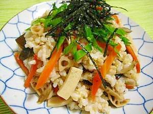 玄米ごはんのベジちらし寿司