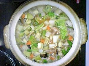 しょうがでポカポカ☆メカジキの生姜醤油雑炊