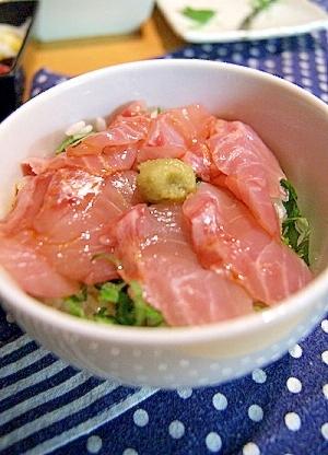 【Booのてきとーなレシピ】金目鯛のお刺身丼