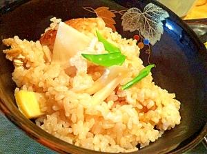 この春はちょっと違う、塩麹で発芽玄米入り筍ごはん