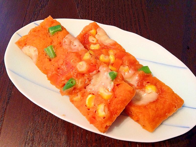シリコンスチーマーで☆ピザ風蒸しパン