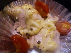 お弁当に!鶏肉とミニトマトのレモンマヨ焼き