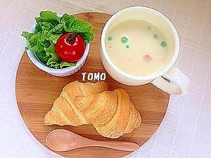 レンジで簡単♪具だくさん味噌豆乳スープ