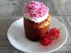 母の日に♪カーネーションバナナマフィンケーキ
