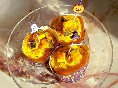 ハロウィンに!シフォン生地の南瓜カップケーキ♪