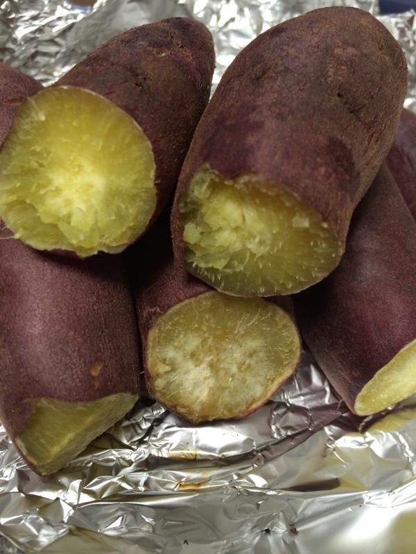 レンジとトースターで☆15分で本格焼き芋