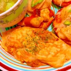sweet&spicyなパイナップルチーズオムレツ