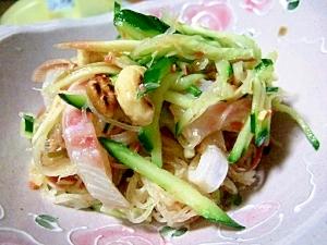 鯛のおさしみde梅風味の中華風サラダ