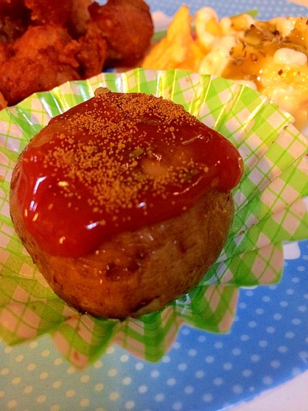 素揚げマッシュルームのオレガノ*カレー*トマト