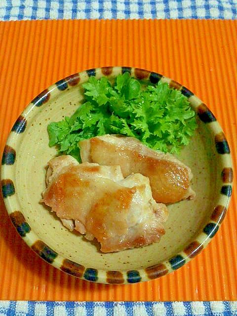 6. 浅漬けの素で鶏ももステーキ