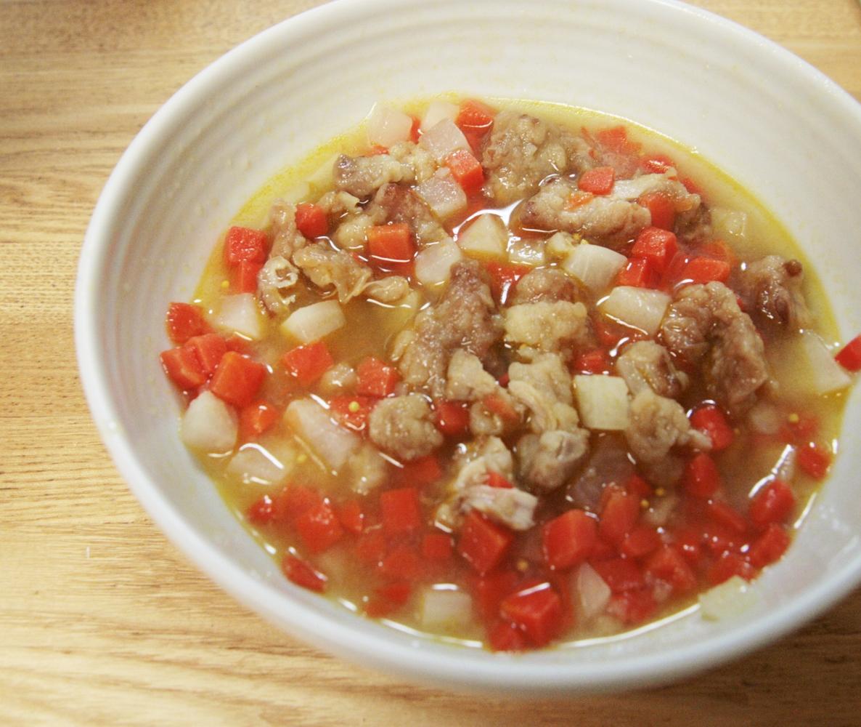 鶏唐揚げリメイク!鶏と根菜の酸っぱ煮