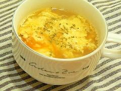 イタリアンたまごスープ★粉チーズでコクウマ