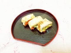 ブロッコリーと人参の卵焼き