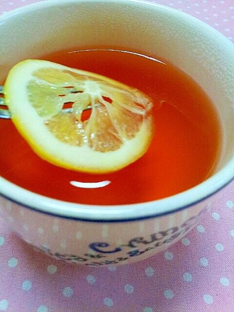 冬にあったかはちみつ生姜のレモンティー