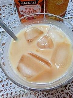 アイス☆グレープフルーツきなこミルク♪