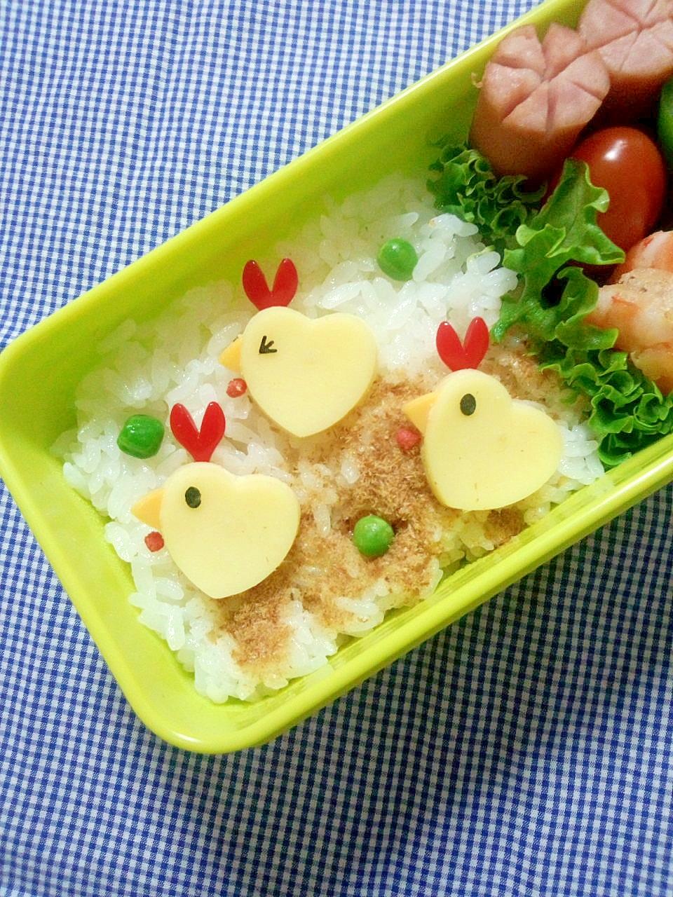 簡単キャラ弁☆ニワトリさんのお弁当♪