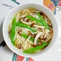 おから麺の簡単スープ♪