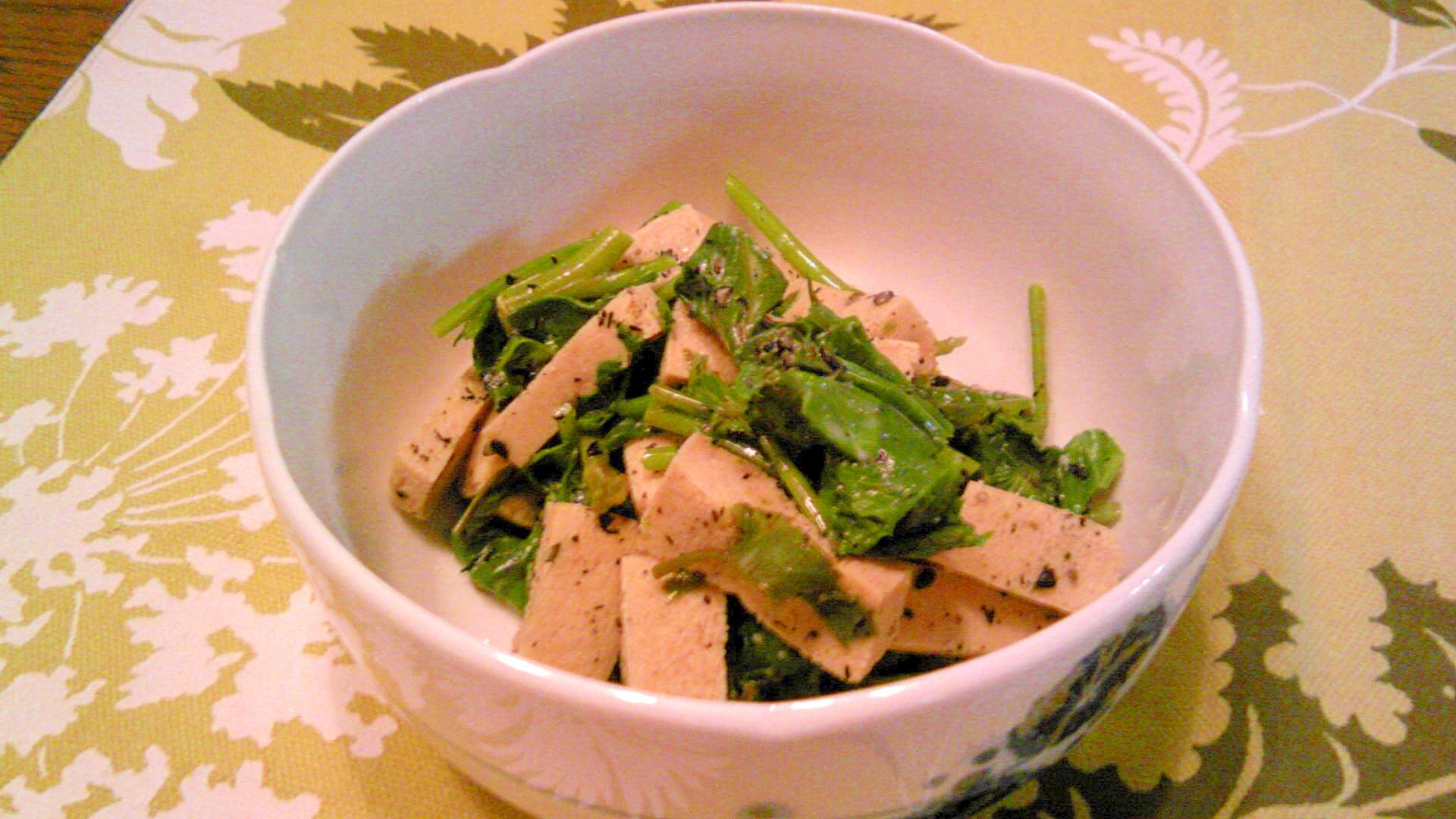 空芯菜と高野豆腐の胡麻マヨ和え