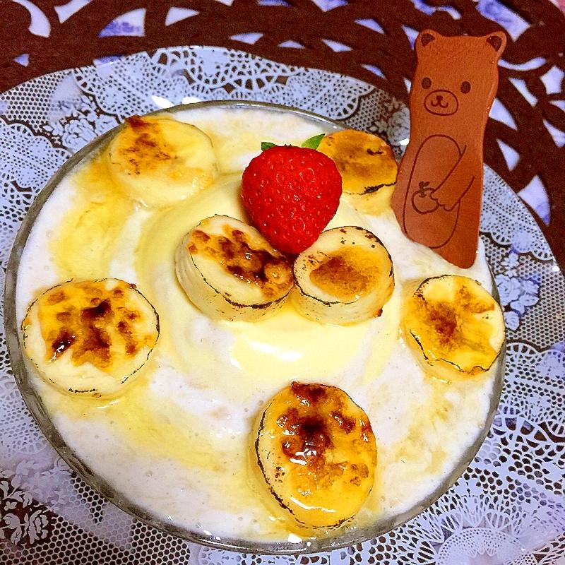 おぼろ豆腐deとろとろバナナのブラマンジェ風