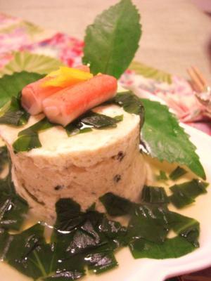 豆腐と鶏つくねのミルフィーユ仕立て♪