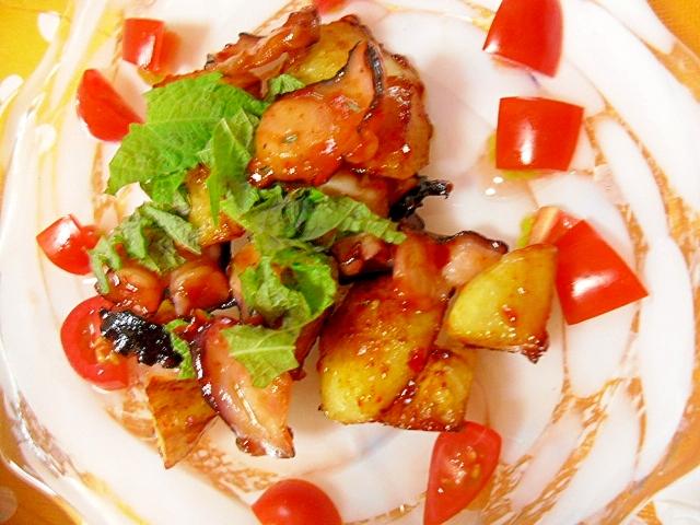 タコキムチとポテトのソテー