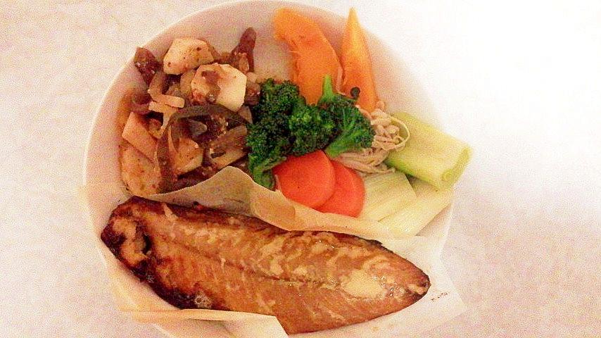 鯖の粕漬けと蒸し野菜の健康ワンプレート