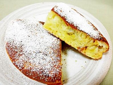 ホットケーキミックスを使ったバナナパンケーキ