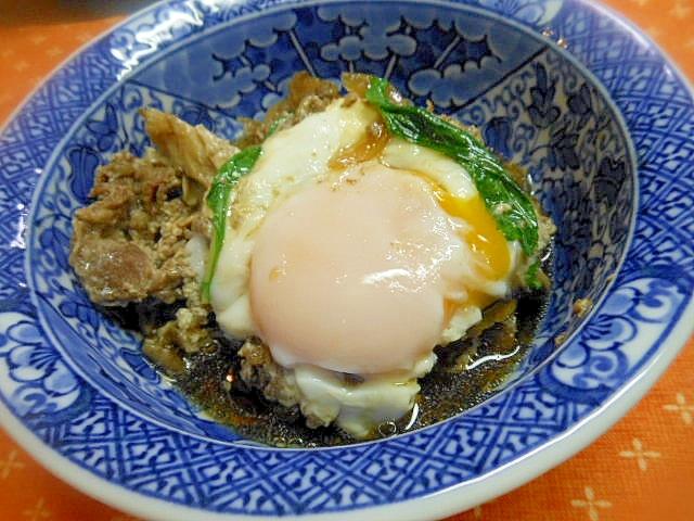 舞茸と牛肉の卵煮