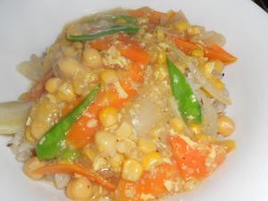 残り物中華スープで美味しいスープチャーハン♪