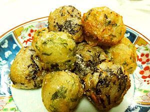 大葉とひじきの菊芋団子