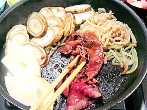 太牛蒡とタケノコの贅沢すき焼き