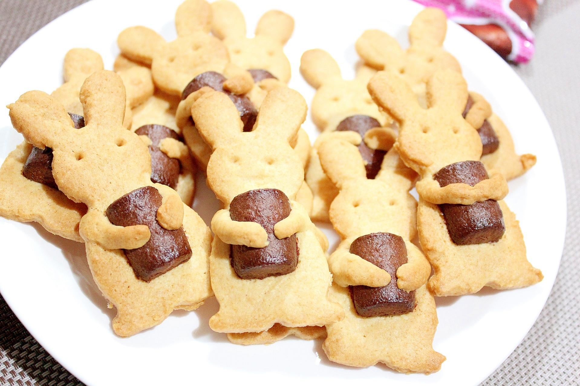 焼きチョコベイクの抱っこうさぎクッキー レシピ・作り方 by ラムちゃん1224|楽天レシピ