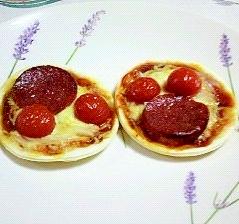 小さな、かわいいピザ~