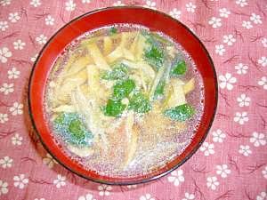 タケノコ・高野豆腐を使って